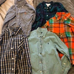 Boys Button Up Polos (long sleeve)